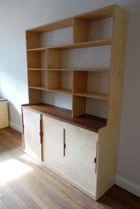Alexandria's cabinet bookcase combo