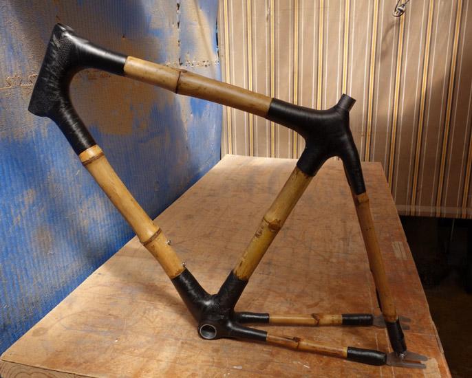 custom made bamboo bike frame