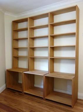 Dorotheas kauri pine bookcases