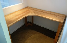 Custom made corner desk