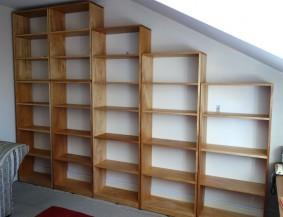 Custom made Kauri pine office shelves