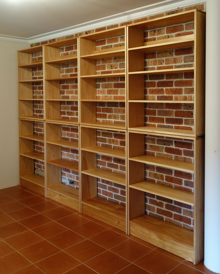 Custom made kauri pine bookcase