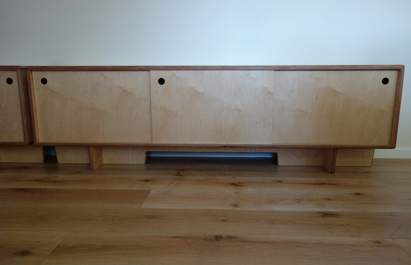 Custom made timber entertainment units sydney nathaniel for Plywood cupboard