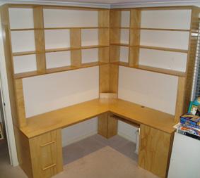 Custom made desk/work station