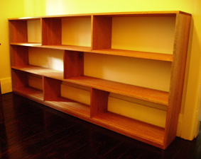 Custom made bookshelves