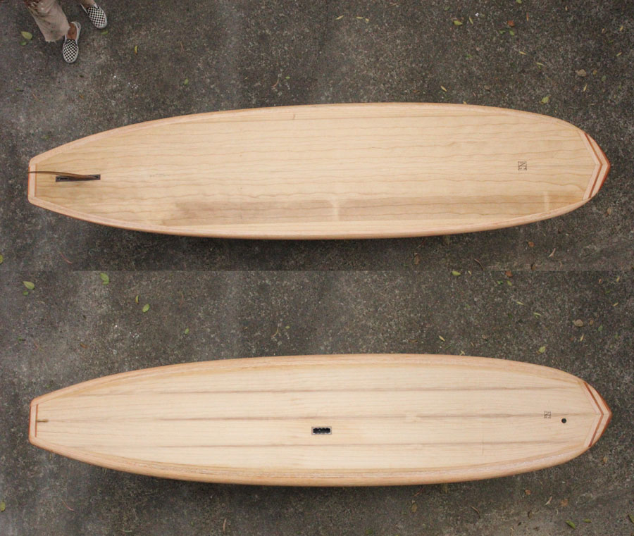timber standup paddleboard
