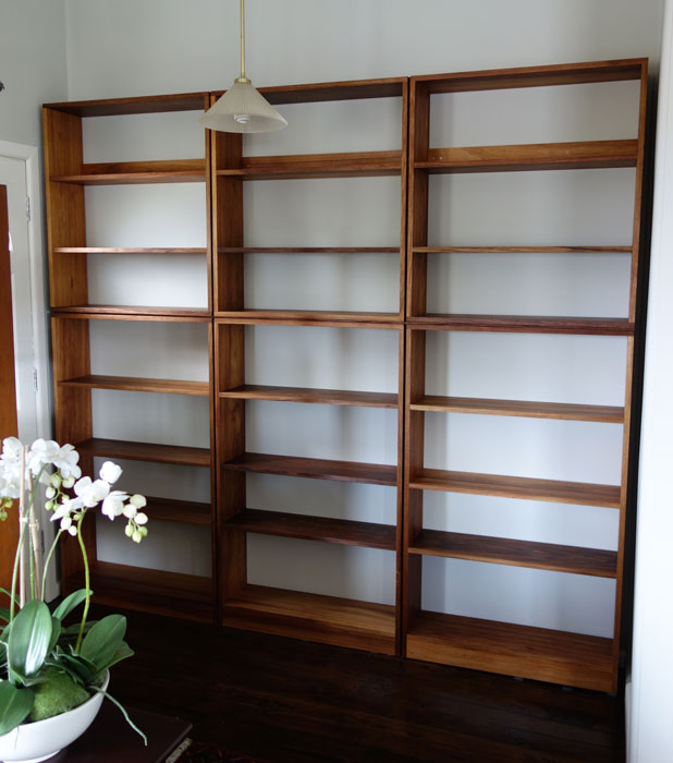Custom made shadow-line bookcase