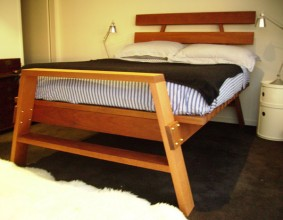 Custom made bed in silky oak 