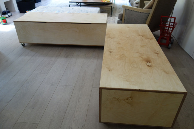 Birch Plywood storage benches