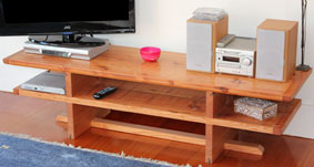 Recycled oregon entertainment unit, finished with Danish oil and then waxed