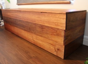 Tasmanian blackwood chest / window seat