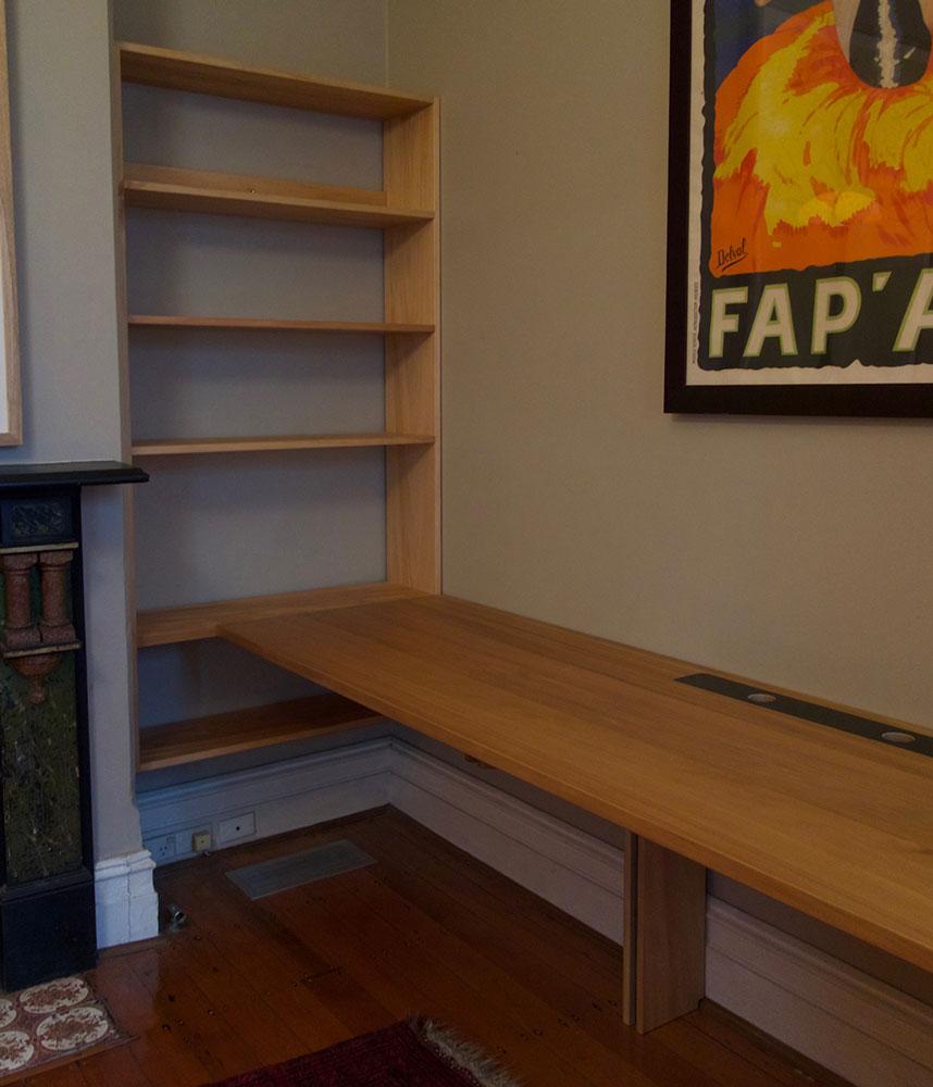 Ben's desk and shelves