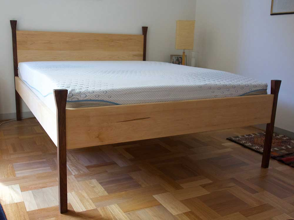 Chris' blackwood and American maple bed