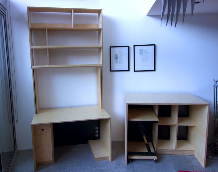 Home office; Desk and filing-cabinet