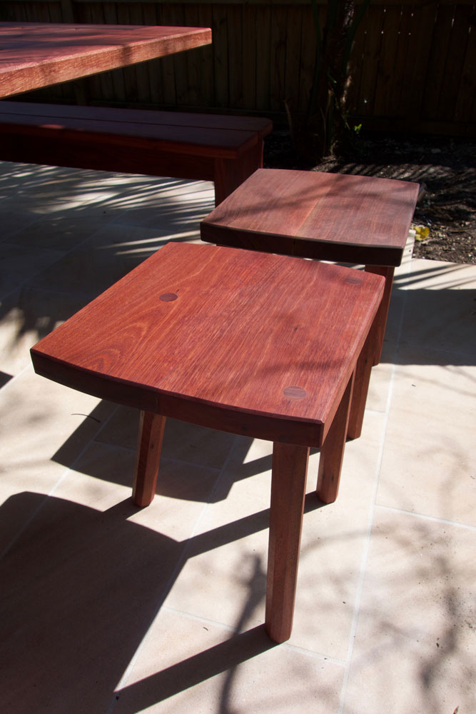 Rick's outdoor setting, stool detail