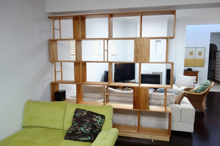 Custom made Bookcase/Room divider made from Kauri pine