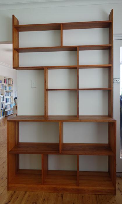 Tasmanian blackwood bookcases