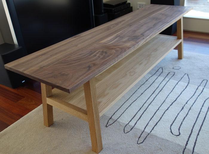 Custom made entertainment unit /table