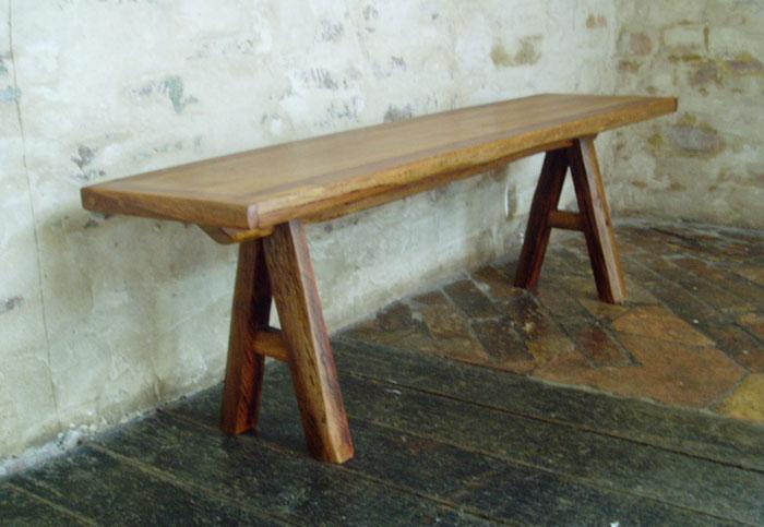 Iron wood bench