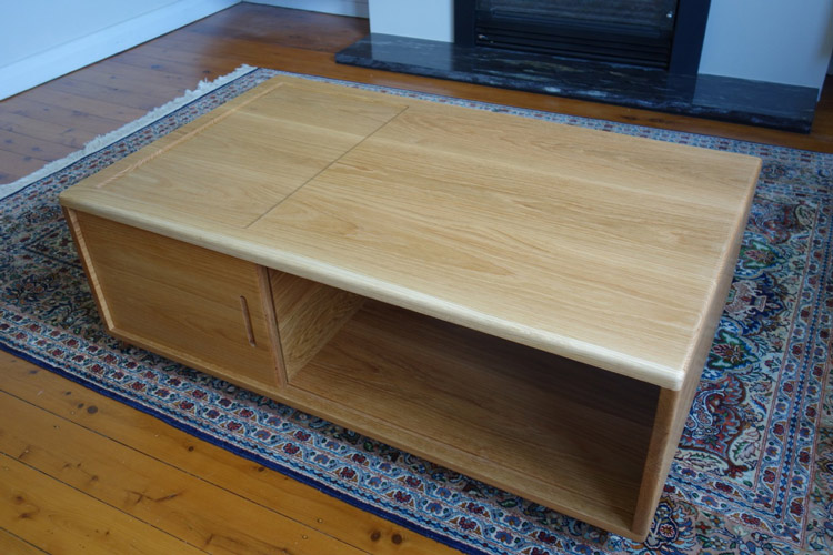 Custom made American oak coffee table