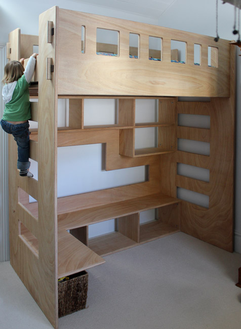 Jade 39 s loft bed sydney nathaniel grey for Bedroom designs plywood