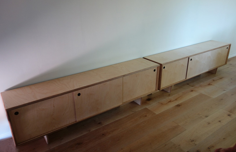 birch plywood cabinets