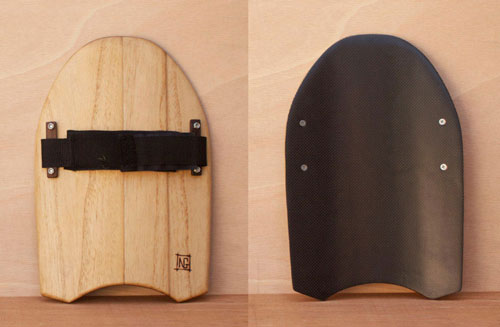Paulownia and carbon fibre handplane