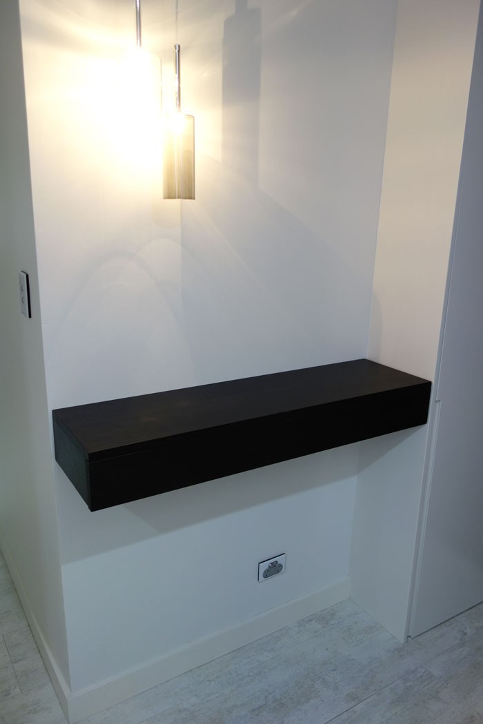 Custom made floating console