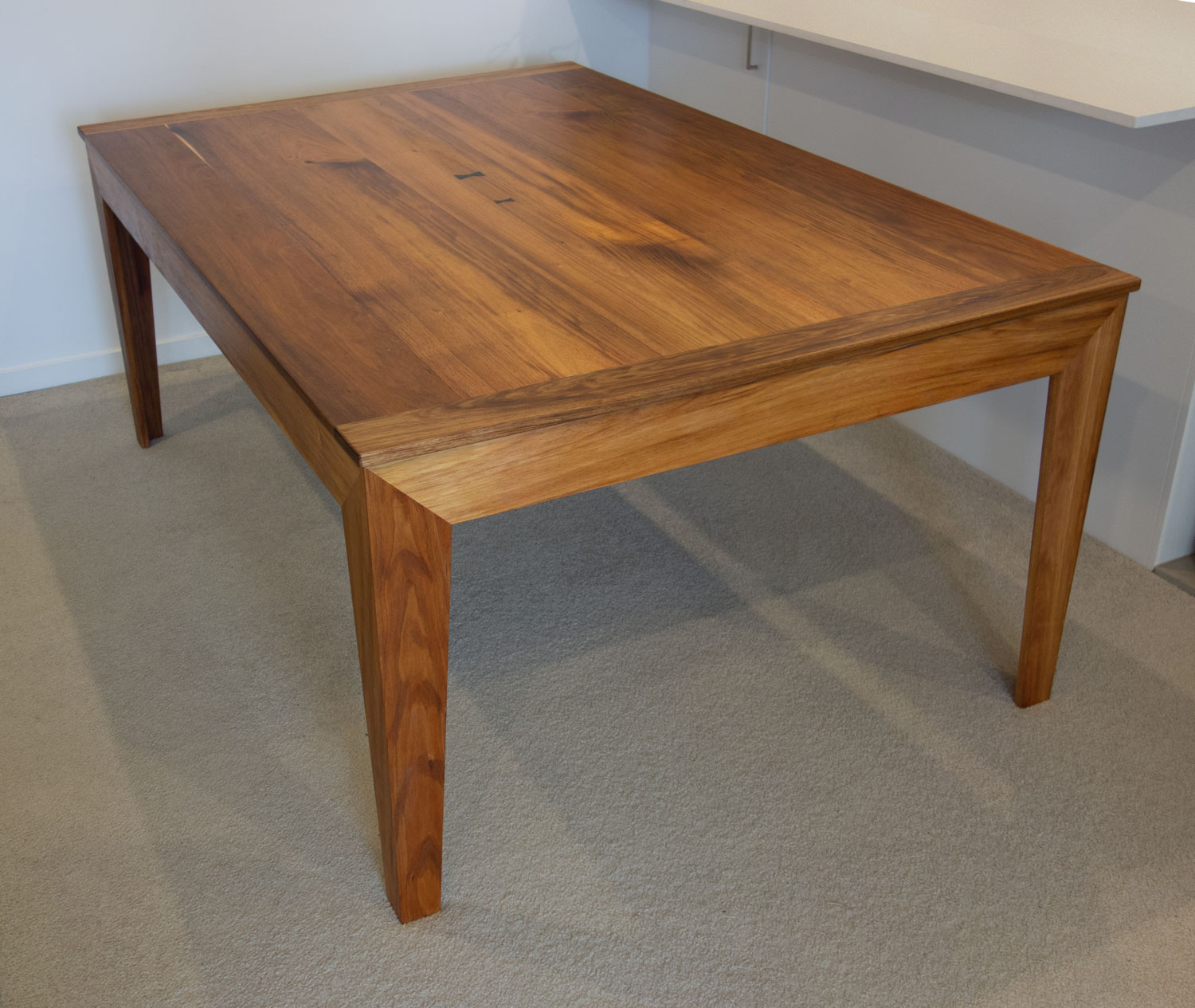 Tasmanian blackwood table with lift off top becomes a games table