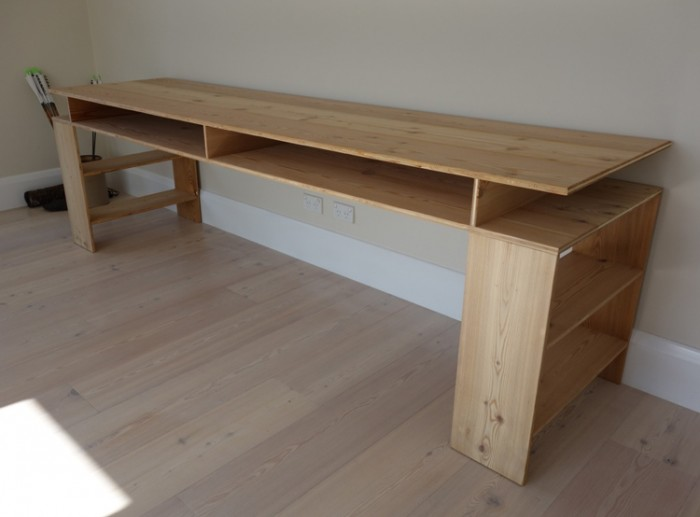 Desk made from left-over