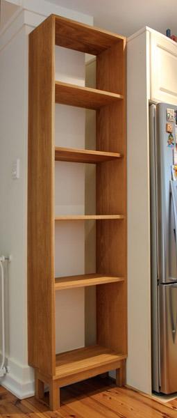 Custom made American oak shelves