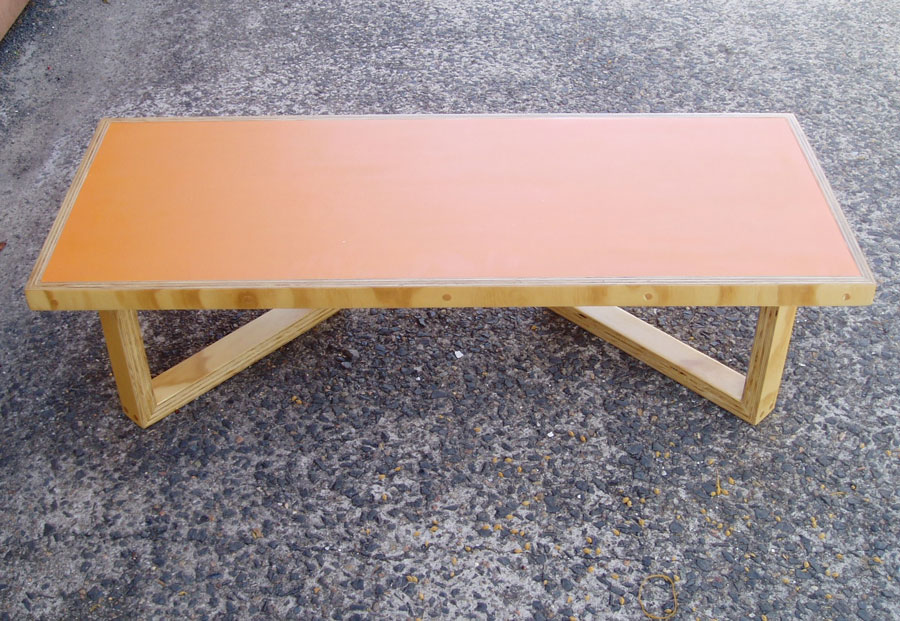 Coffee table in furniture-grade plywood