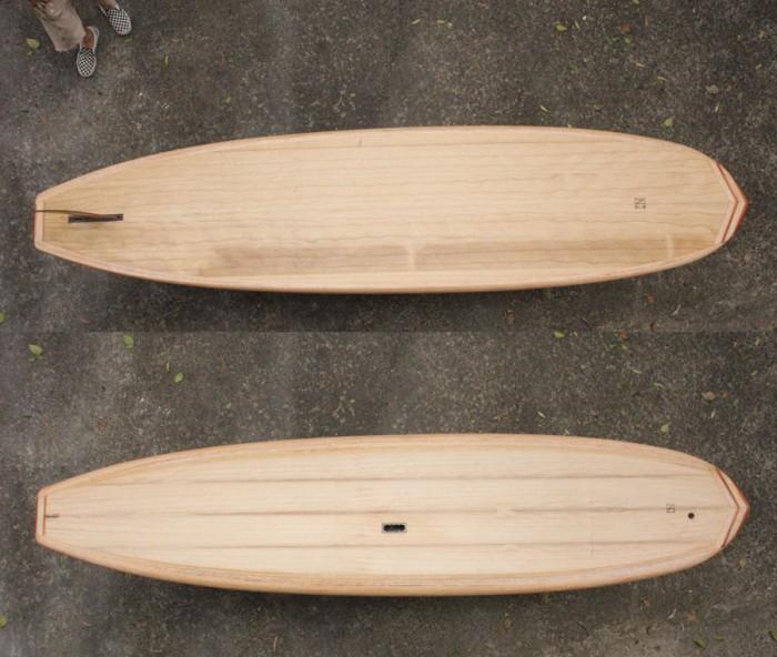timber standup paddleboard