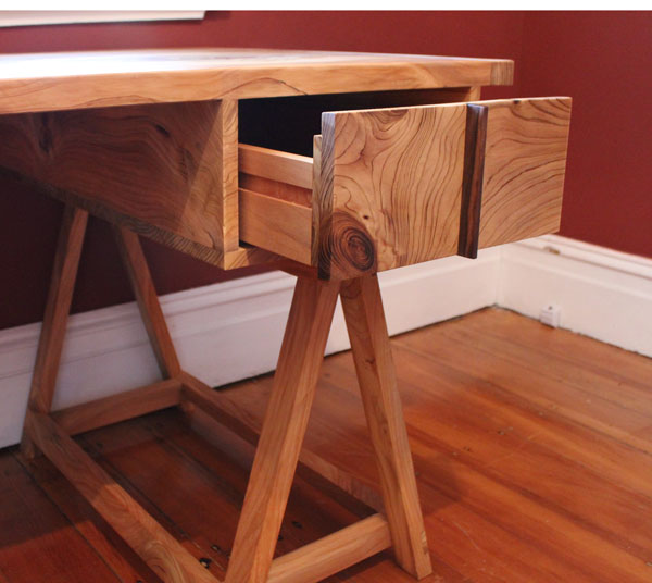 Custom made desk in Himalayan pine