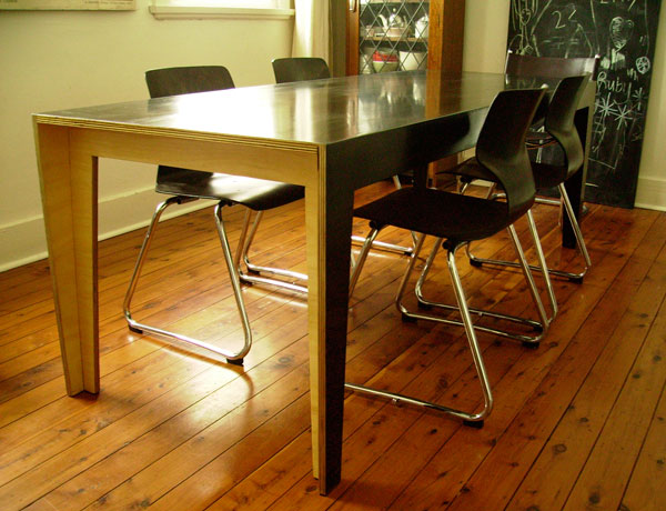 Custom made plywood dining table