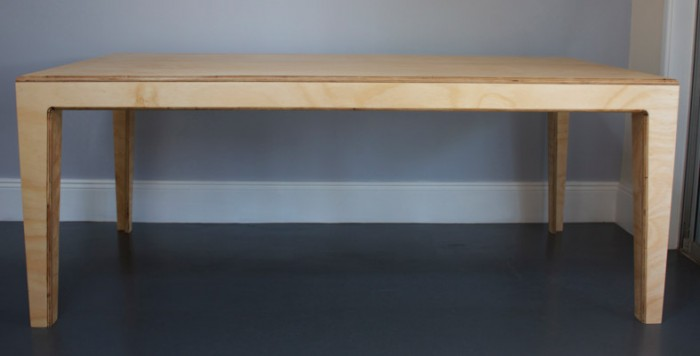 custom made plywood table by Nathaniel Grey, Sydney