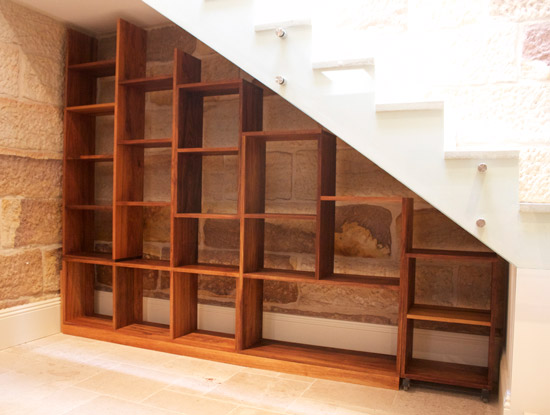 Custom made shelves by Nathaniel Grey, Sydney